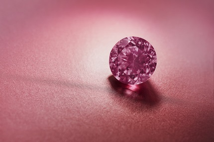 Argyle Eternity™, 2.24ct Fancy Vivid Purplish Pink round diamond from the 2020 Argyle Pink Diamonds Tender